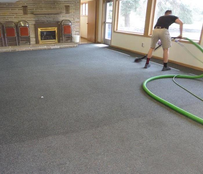 How do I clean my carpets after they are damaged from water? Before